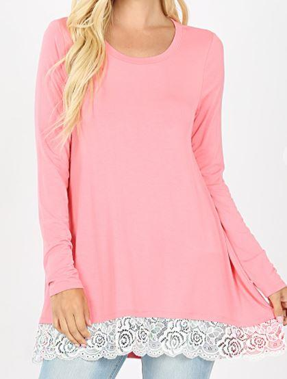 Trimmed in Lace Tunic
