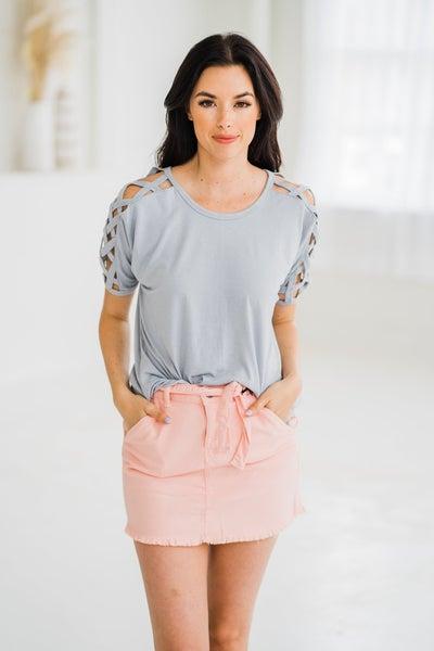 Lattice Sleeve Shirt
