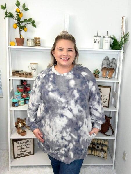 Haley Brushed Knit Tunic - gray