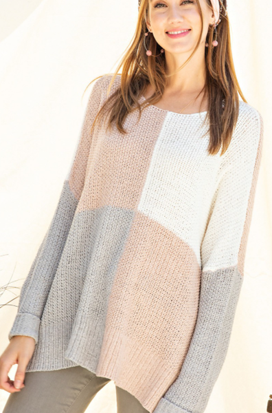 Nina Knit  Sweater - Pink