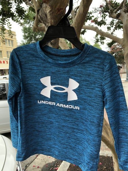 UNDER ARMOR BLUE LONG SLEEVE SHIRT