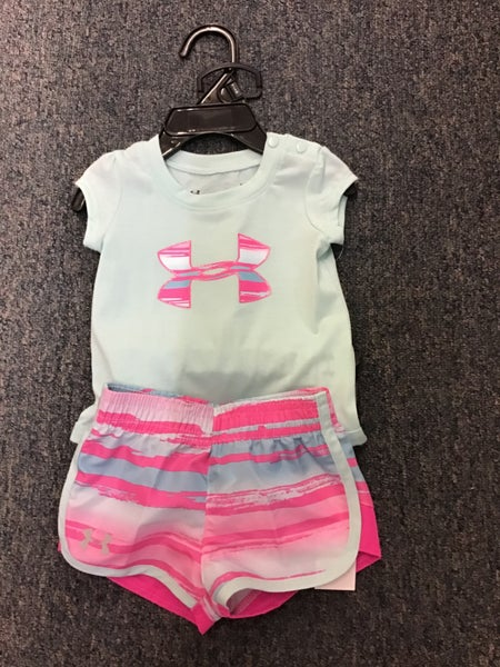 GIRLS UNDER ARMOUR MINT 2PC SET