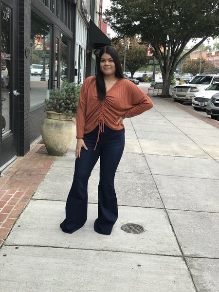 high rise super flare jeans