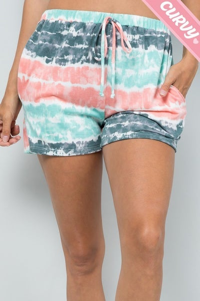 PLUS MINT TIE DYE SHORTS