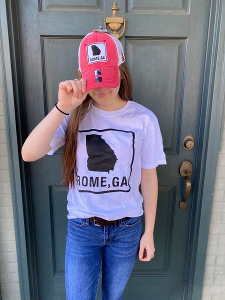 ROME GEORGIA PATCH HAT RED W/ SHIRT