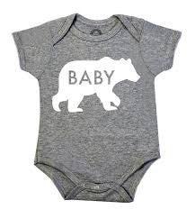 BABY BEAR GRAY ONESIE