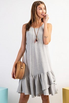 HEATHER GREY SLEEVELESS DRESS