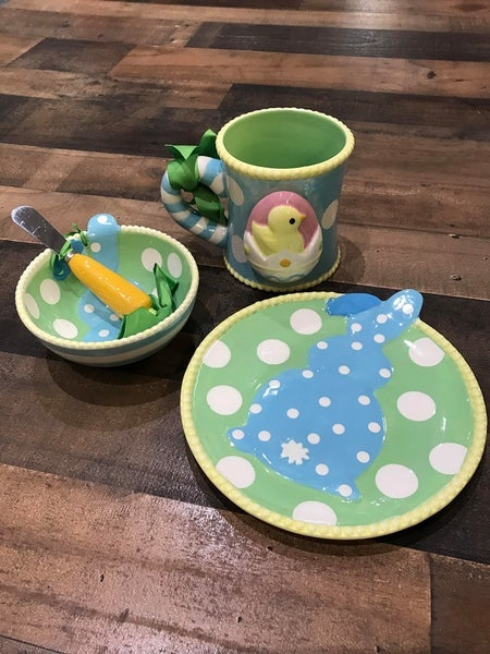 MUDPIE SMALL BUNNY PLATE
