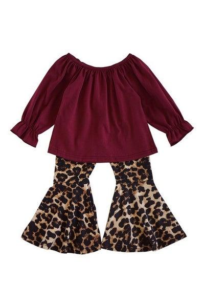 Leopard top jeans