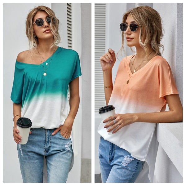 UNIQUE SOFT OMBRE TOP