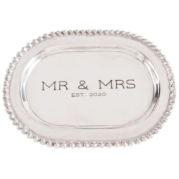 MUDPIE MR & MRS SILVER PLATTER WEDDING