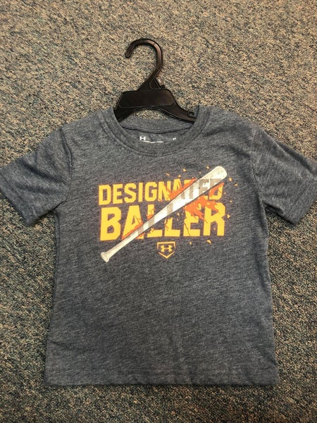 BOYS UNDER ARMOUR  GRAY DESIGNATED BALLER SHIRT