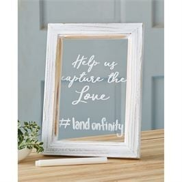 MUDPIE  CLEAR WEDDING HASHTAG SIGN SET