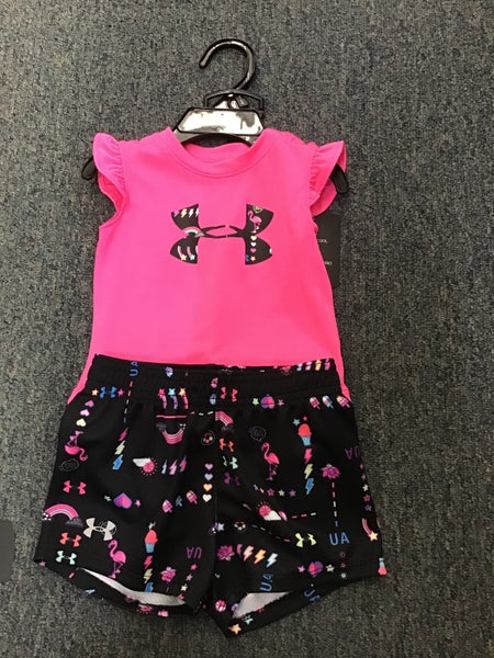 GIRLS UNDER ARMOUR PINK 2-PC SETS