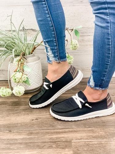 hey gal poppy black sneakers