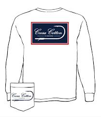 COOSA COTTON WHITE HOOK LONG SLEEVE TSHIRT
