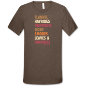 LEAVES AND BONFIRES SHIRT