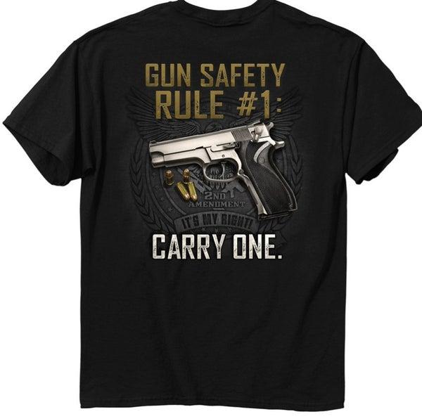 gun safety rule tshirt