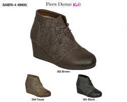 KIDS PIERRE DUMAS WEDGE LACE-UP BOOT