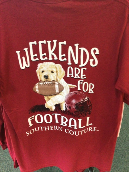 SOUTHERN COUTURE SHORT SLEEVE WEEKEBDS ARE FOR FOOTBALL SHIRT