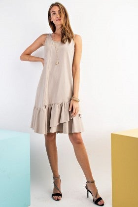 MUSHROOM SLEEVELESS DRESS