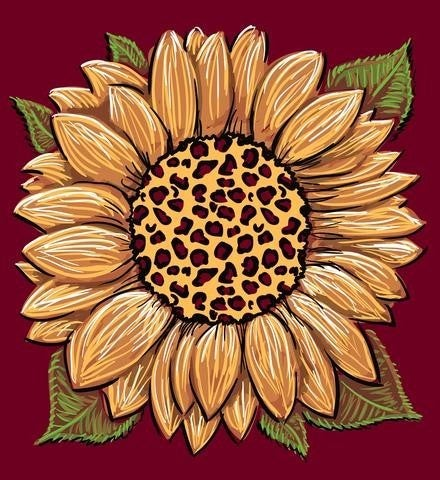 LEOPARD SUNFLOWER TSHIRT