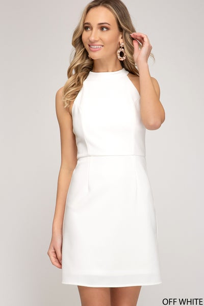 She + Sky Formal Dress (2 Colors) Black or White