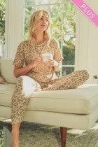 leopard jogger pants
