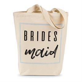 "MUDPIE ""BRIDESMAID"" CANVAS TOTE"
