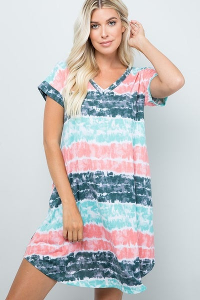 MINT TIE DYE DRESS