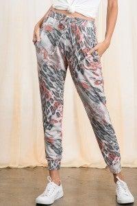 Leopard Print Jogger Pants