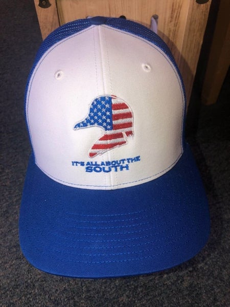 MEN'S BLUE & WHITE 'ITS ALL ABOUT THE SOUTH' DUCK HAT