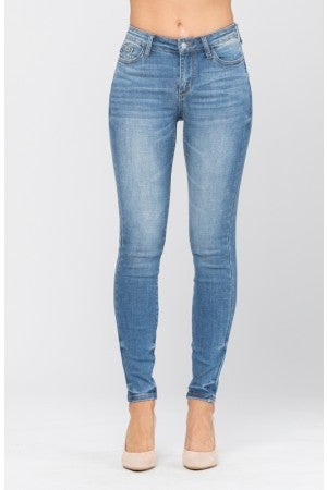 JUDY BLUE PIN TACKED SKINNY JEANS
