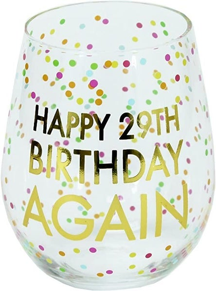 happy 29th birthday again wineglass