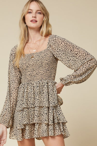 LEOPARD FLOWY DRESS
