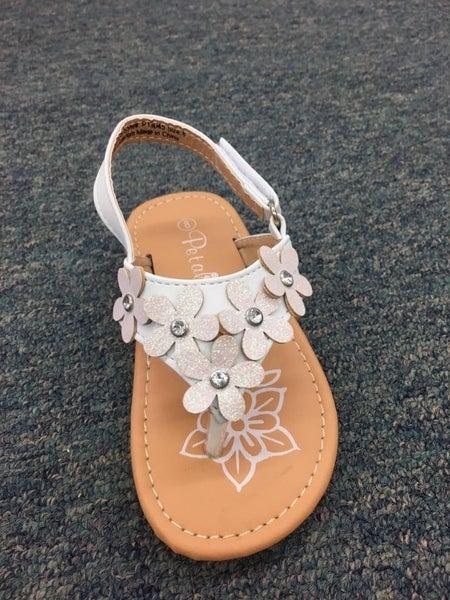 Petalia White Flower Toe Sandal