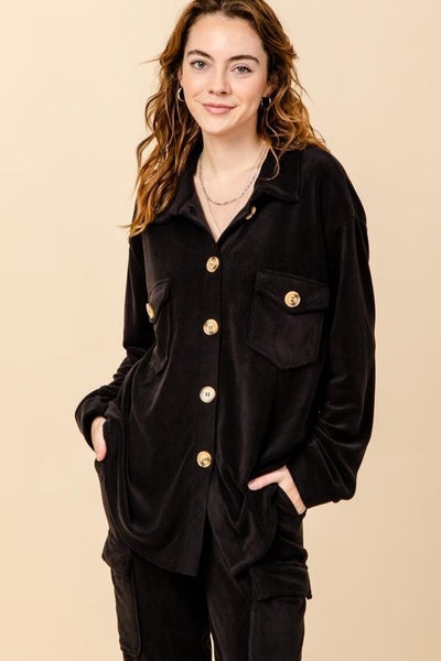 BUTTON FRONT CARGO JACKET