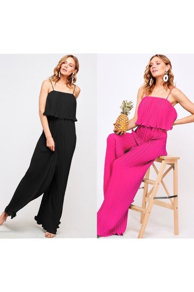 vine and love ruffle jumpsuit