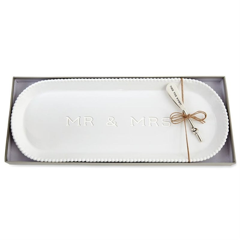 MUDPIE MR & MRS SMALL PLATTER WEDDING