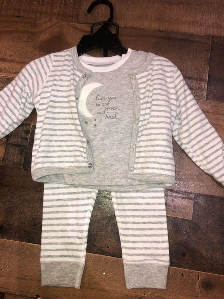 "mudpie ""to the moon and back"" sleep set"
