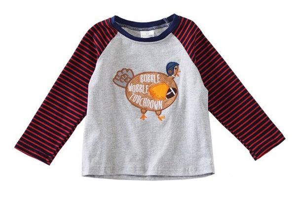 turkey applique boy shirt