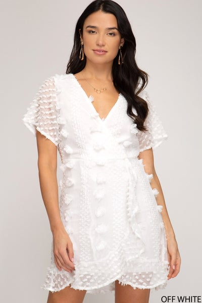CUTIE PATOOTIE WHITE DRESS WITH LINER
