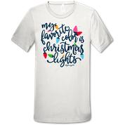 CHRISTMAS LIGHTS TSHIRT