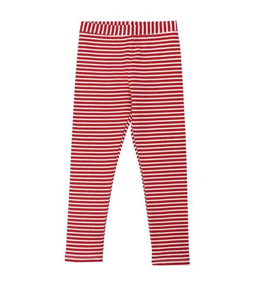 YD STRIPE RED LEGGINGS