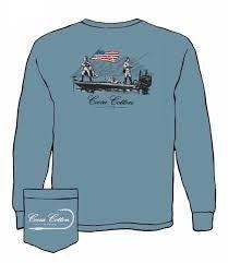 1776 COOSA COTTON BLUE LONG SLEEVE