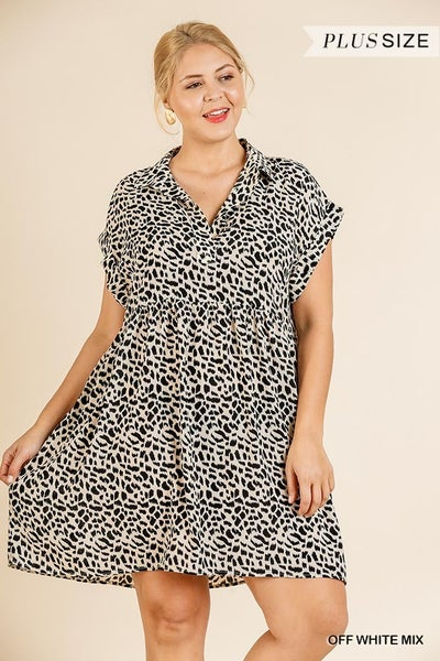 ANIMAL PRINT FOLDED DRESS