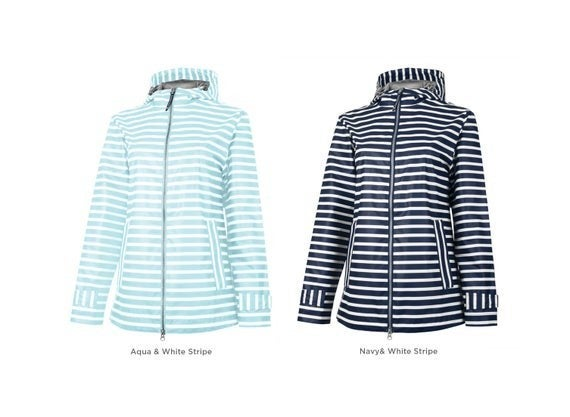 Charles River Striped Raincoat