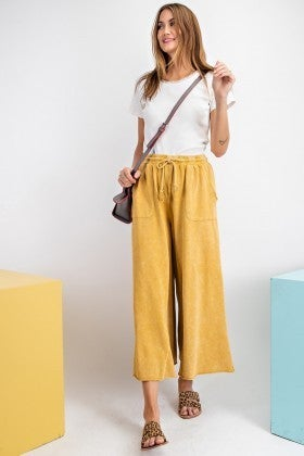 WASHED TERRY KNIT PANTS