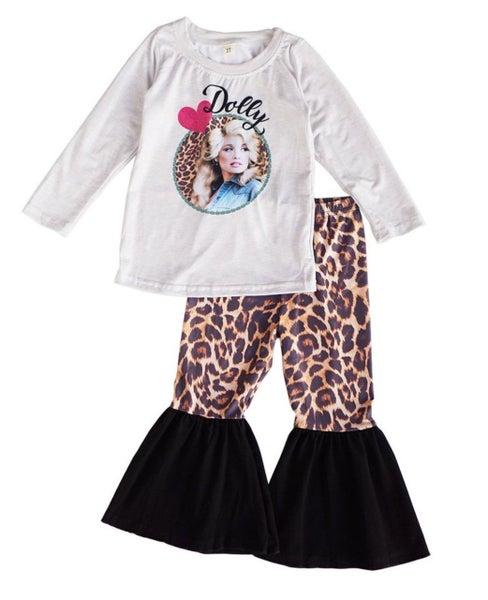 dolly leopard pants set