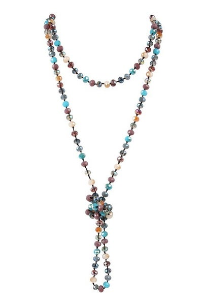 """LONGLINE HAND KNOTTED NECKLACE 60"""""""